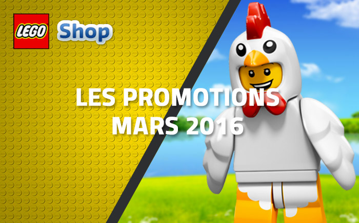 Les promotions LEGO Shop de mars 2016