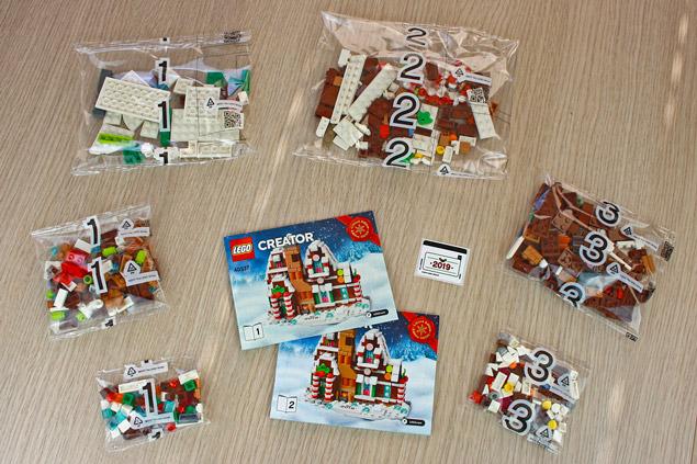 Les sachets et notices du LEGO Creator 40337