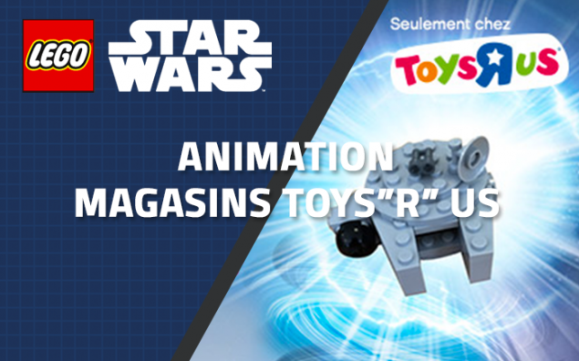 Animations Toys'R'us - Un mini LEGO Star Wars Faucon Millénium Gratuit