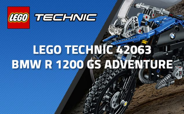 Nouveau LEGO Technic 42063 BMW R 1200 GS Adventure