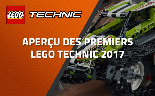 aper u des premiers lego technic 2017. Black Bedroom Furniture Sets. Home Design Ideas