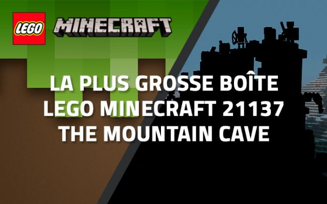La plus grosse boîte LEGO Minecraft 21137 The Mountain Cave