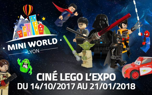 Ciné LEGO L'expo à Mini World LYON du 14/10/2017 au 21/01/2018