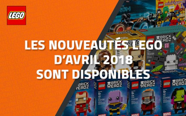 les nouveaut s lego d 39 avril 2018 sont disponibles. Black Bedroom Furniture Sets. Home Design Ideas