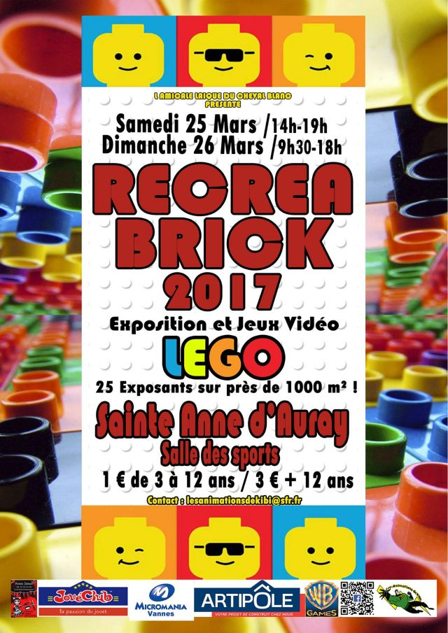 Exposition LEGO Recrea Brick 2017 à SAINTE-ANNE D'AURAY (56400)