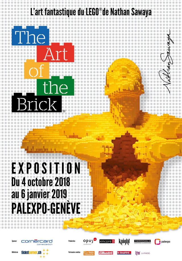 Exposition LEGO THE ART OF THE BRICK à GENEVE (SUISSE)