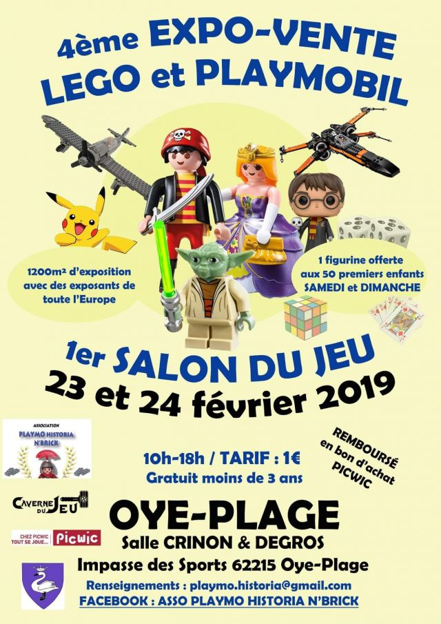 Exposition LEGO EXPO VENTE LEGO PLAYMOBIL OYE-PLAGE 2019 à OYE-PLAGE (62215)
