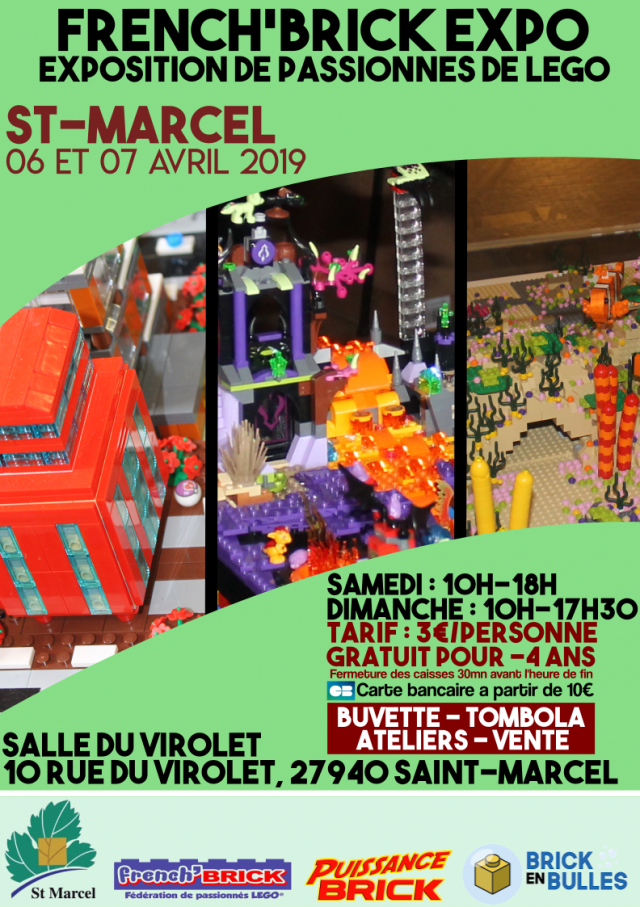 Exposition LEGO Expo LEGO French'Brick 2019 à Saint-Marcel (27940)