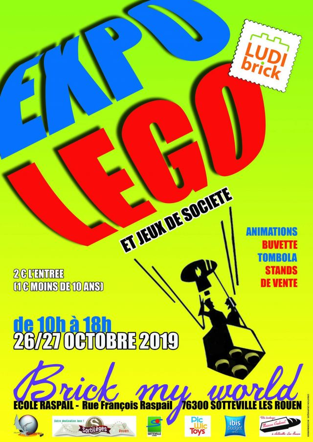 Exposition LEGO Expo LEGO Brick My World 2019 à Sotteville-lès-Rouens (76300)