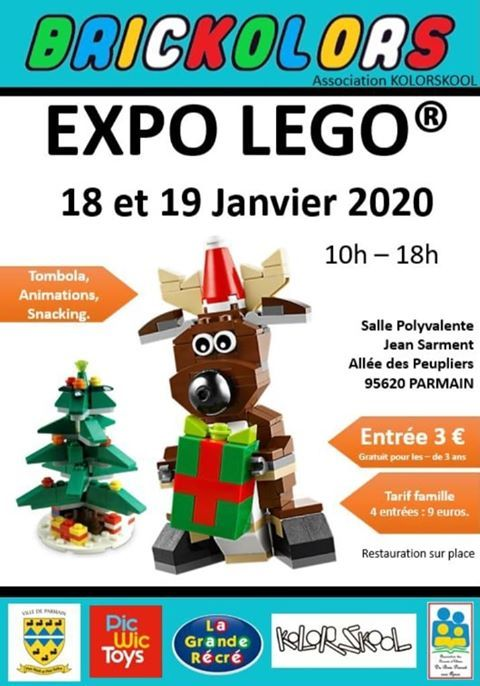 Exposition LEGO Expo LEGO Brickolors 2020 à Parmain (95620)