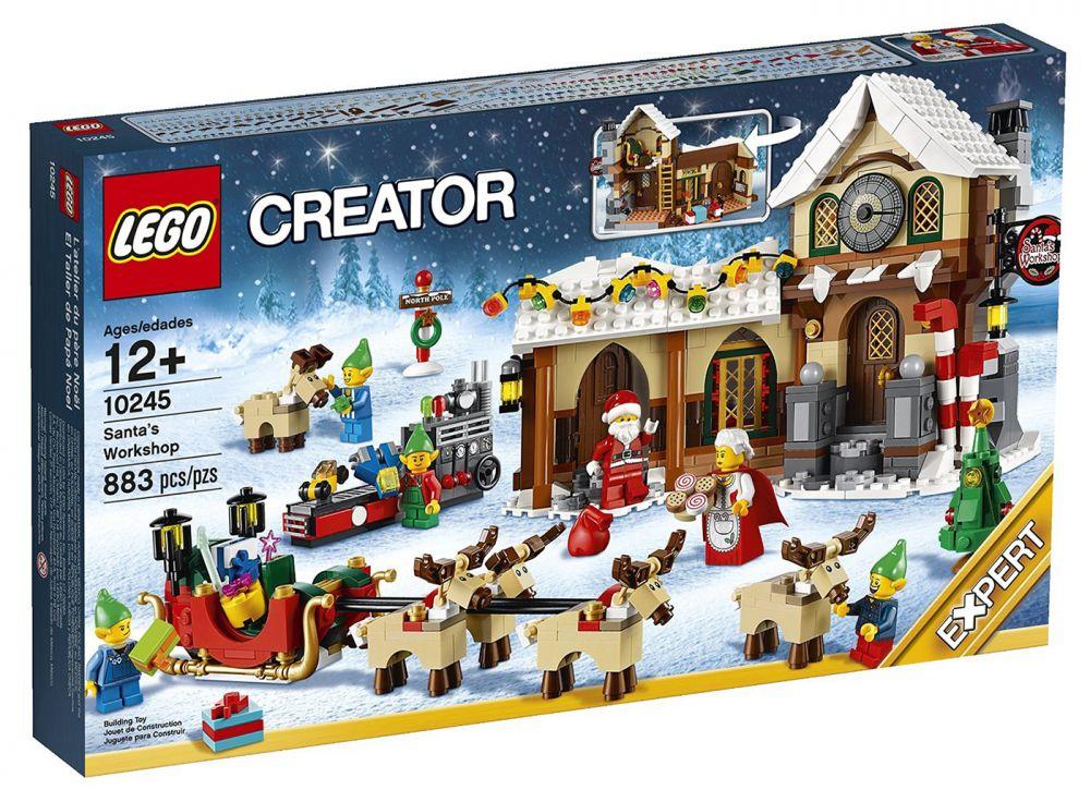 pere noel lego LEGO Creator 10245 pas cher   L'atelier du Père Noël pere noel lego