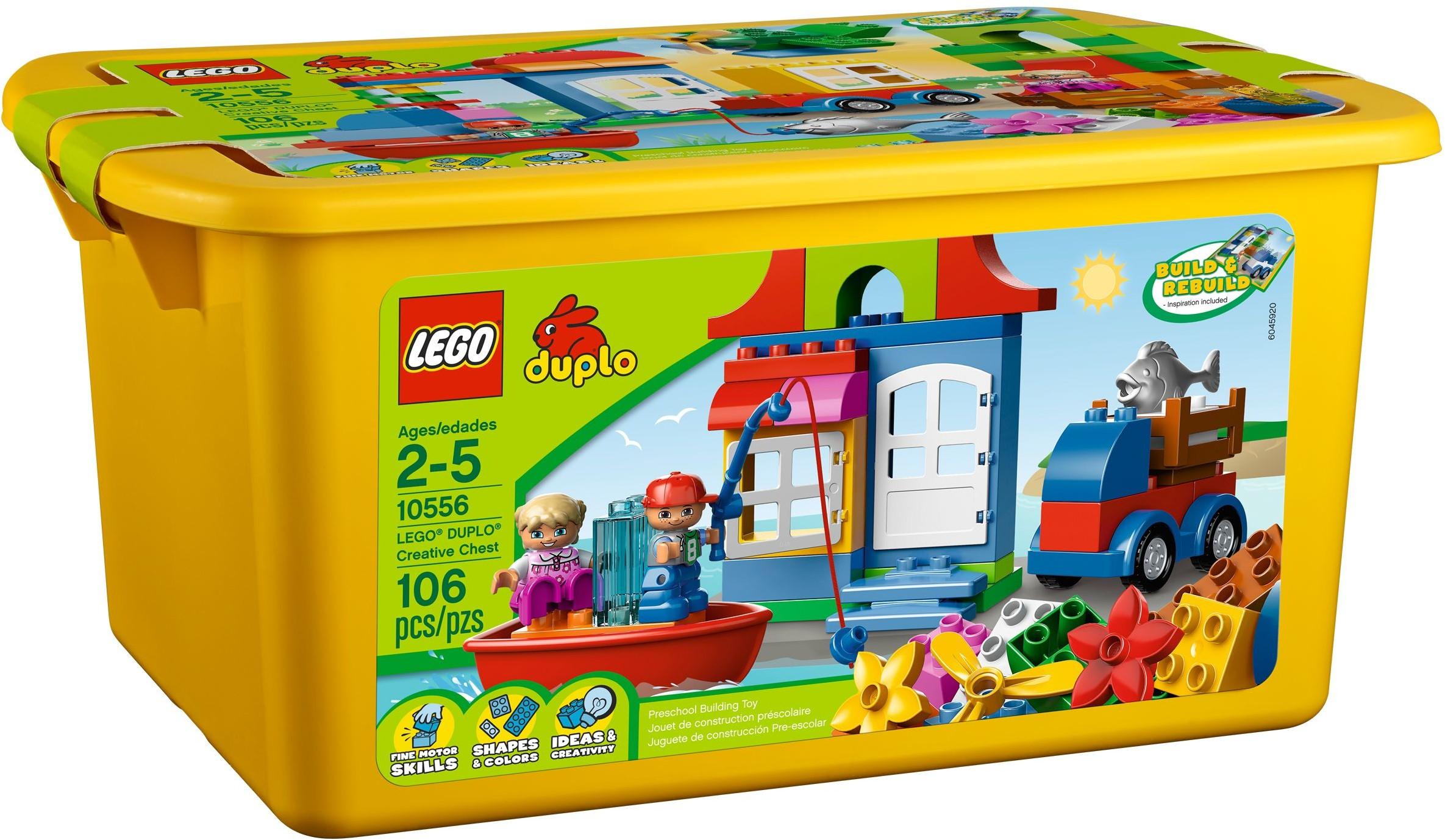 Lego duplo 10556 pas cher maxi caisse jaune lego duplo - Caisse de rangement lego ...
