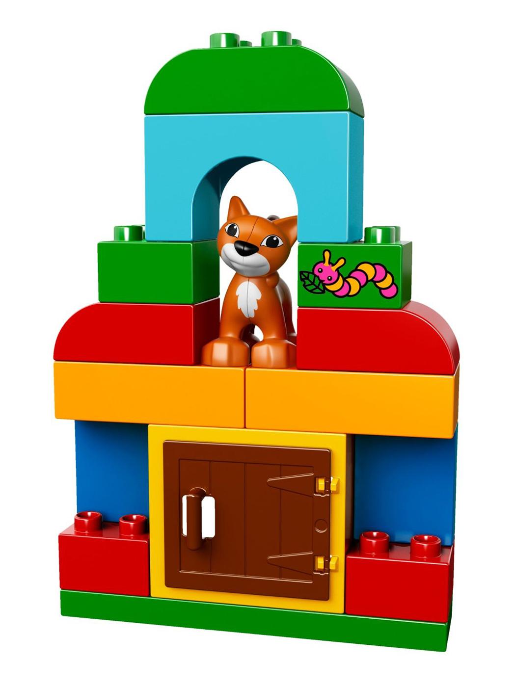 lego duplo 10570 pas cher bo te de briques et d 39 animaux. Black Bedroom Furniture Sets. Home Design Ideas