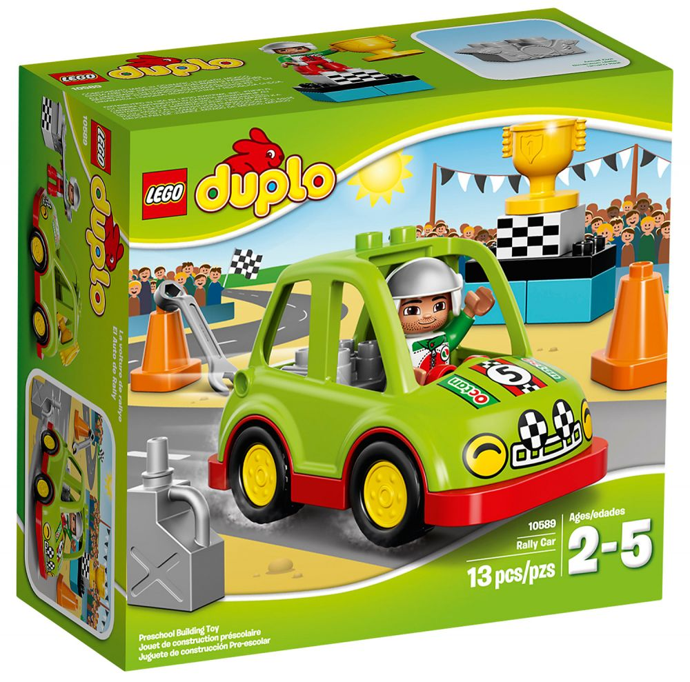 lego duplo 10589 pas cher la voiture de rallye. Black Bedroom Furniture Sets. Home Design Ideas