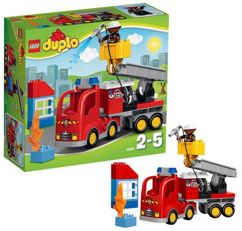10592 le camion de pompiers de lego. Black Bedroom Furniture Sets. Home Design Ideas