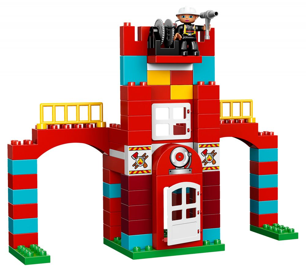 lego duplo 10593 pas cher la caserne des pompiers. Black Bedroom Furniture Sets. Home Design Ideas
