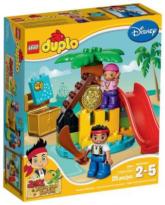 Lego duplo 10604 pas cher jake et l 39 le au tr sor des pirates du pays imaginaire - Ile pirate lego ...