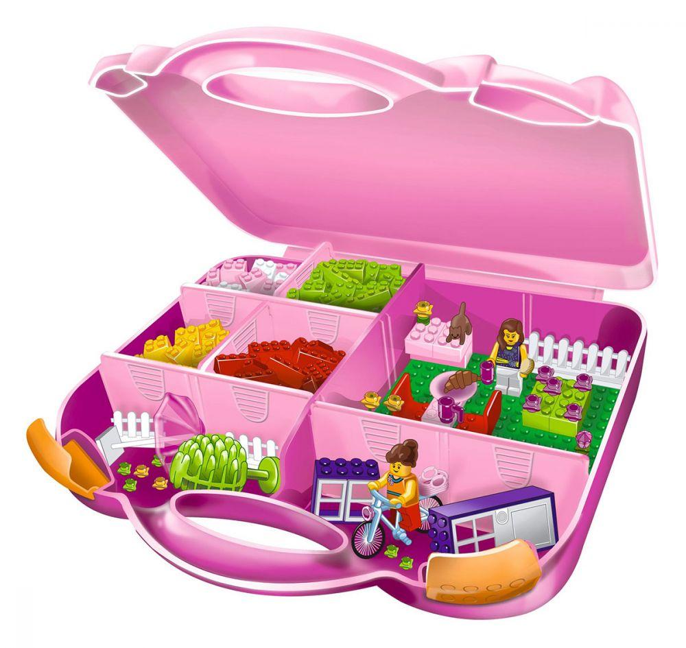 lego juniors 10660 pas cher la valise de construction fille. Black Bedroom Furniture Sets. Home Design Ideas
