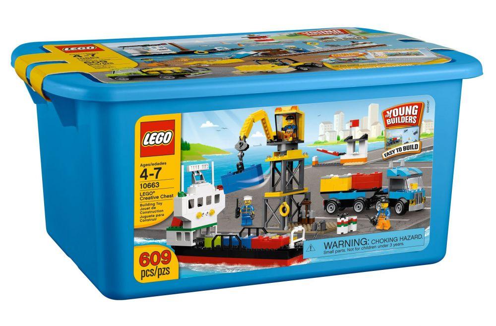 Lego juniors 10663 pas cher bo te de construction du port - Boite rangement lego pas cher ...