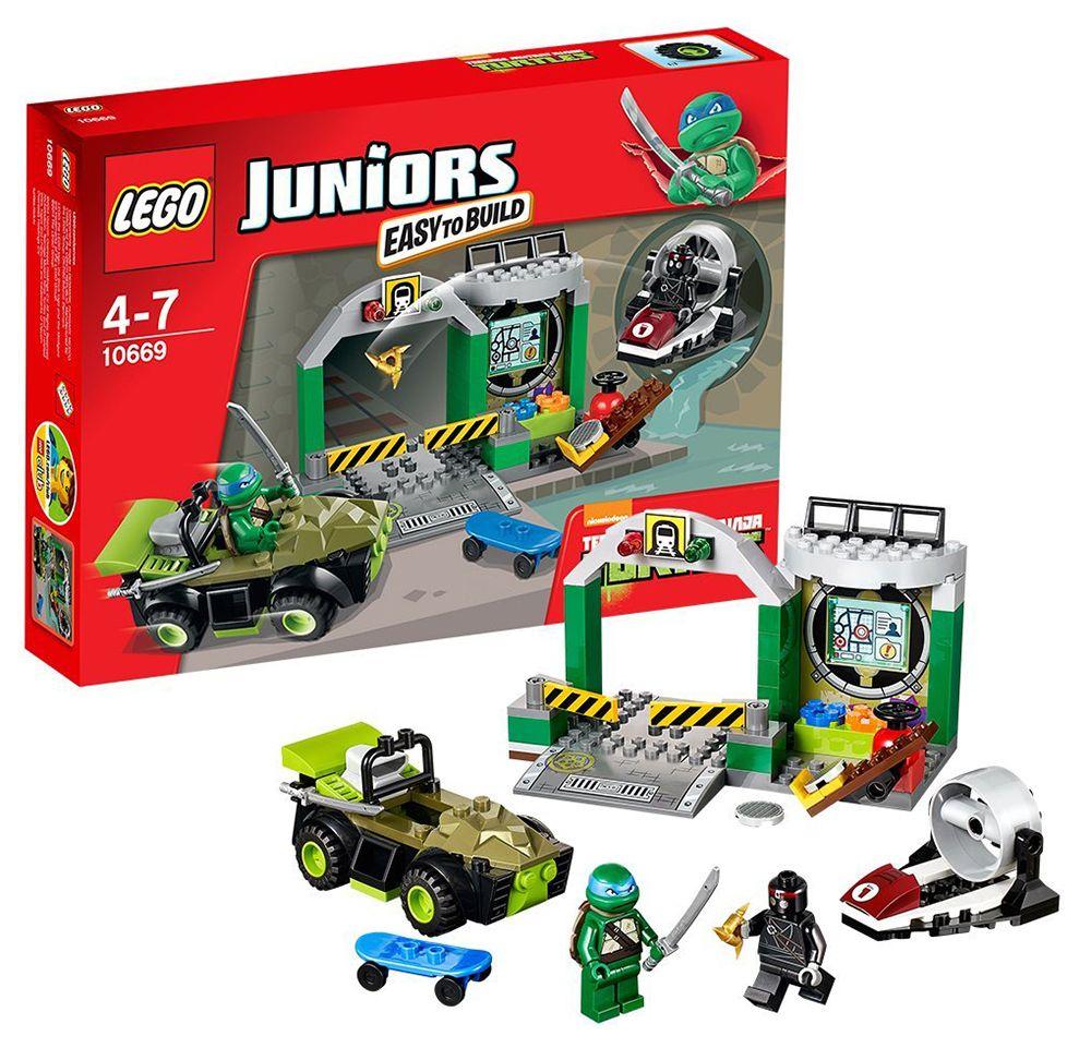 Lego juniors 10669 pas cher le repaire des tortues ninja for Repere des tortue ninja