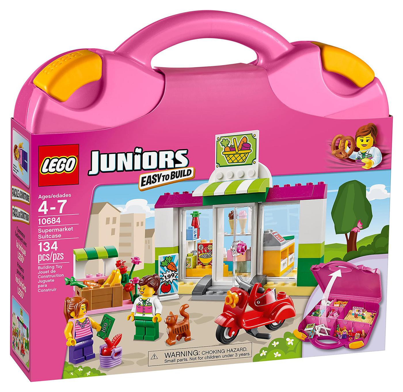 lego juniors 10684 pas cher la valise supermarch. Black Bedroom Furniture Sets. Home Design Ideas