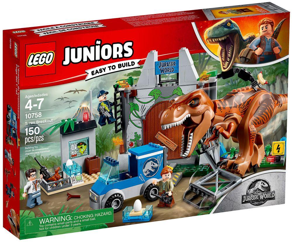 Lego L'évasion Du World Juniors Tyrannosaurejurassic 10758 CoxWrBde