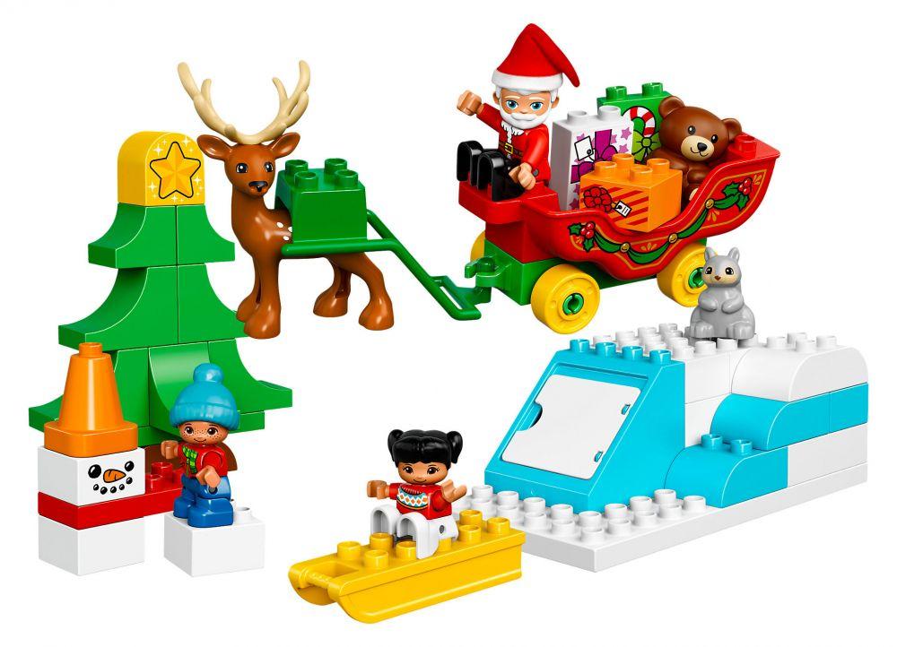 duplo noel LEGO Duplo 10837 pas cher   Les vacances d'hiver du Père Noël duplo noel