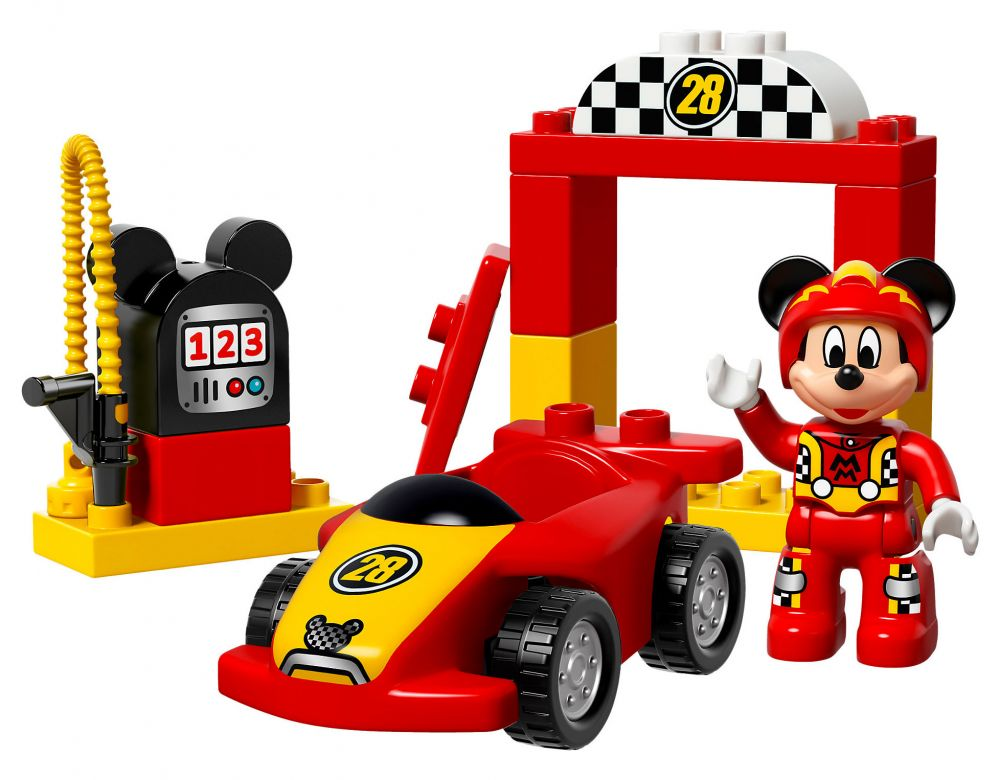 lego duplo 10843 pas cher la voiture de course de mickey. Black Bedroom Furniture Sets. Home Design Ideas