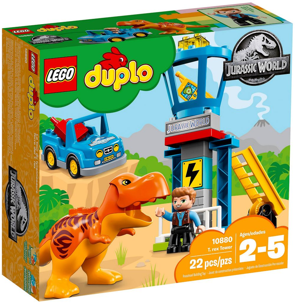 Duplo La Tour Rexjurassic World T 10880 Lego Du srBthQCdx