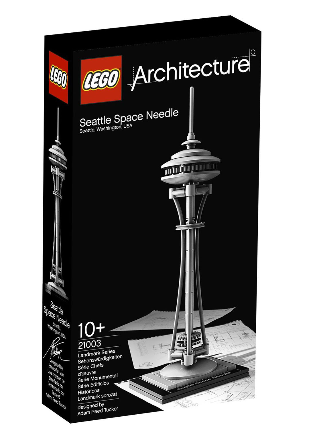 lego architecture 21003 pas cher seattle space needle. Black Bedroom Furniture Sets. Home Design Ideas