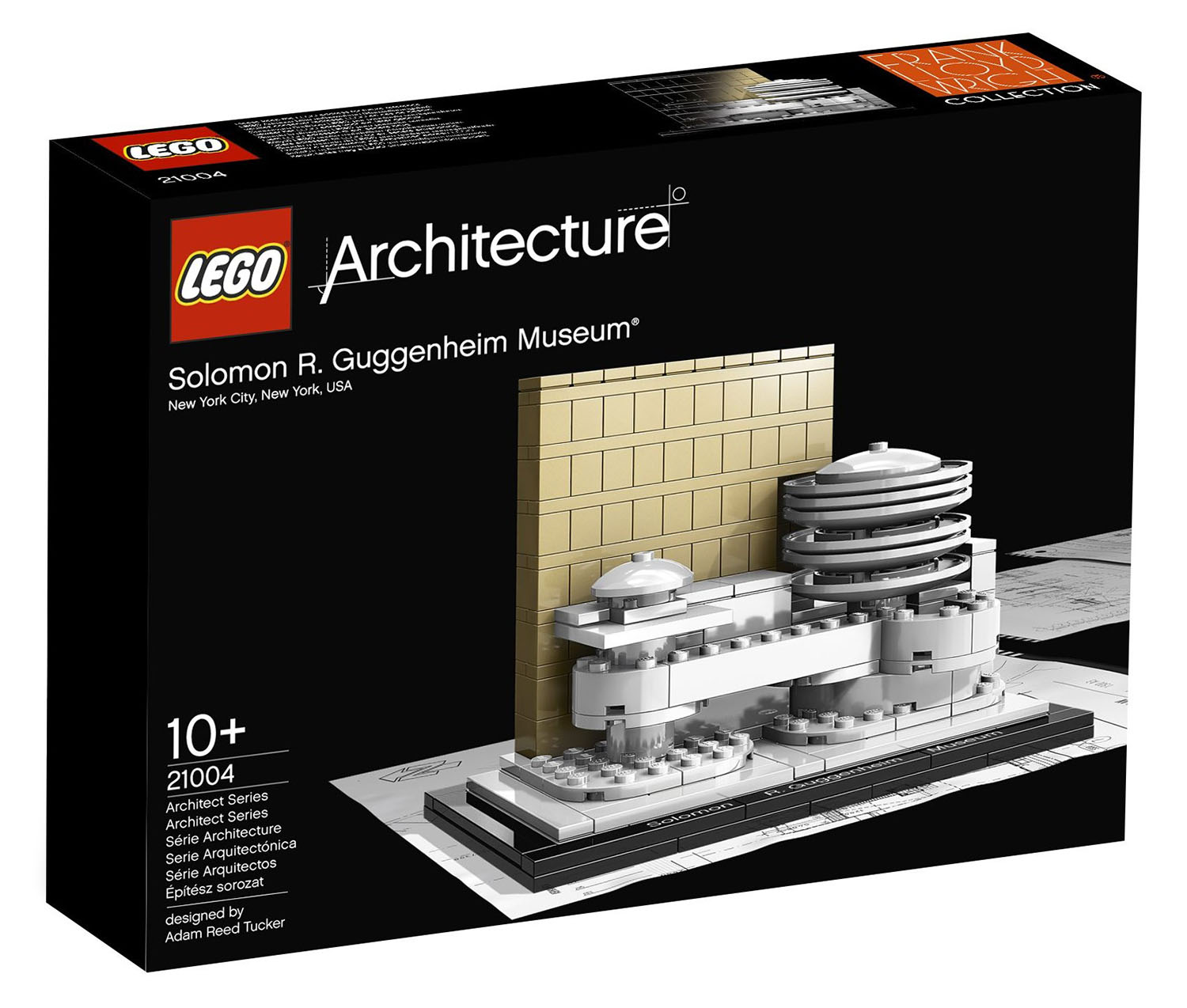 lego architecture 21004 pas cher le mus e solomon r guggenheim. Black Bedroom Furniture Sets. Home Design Ideas