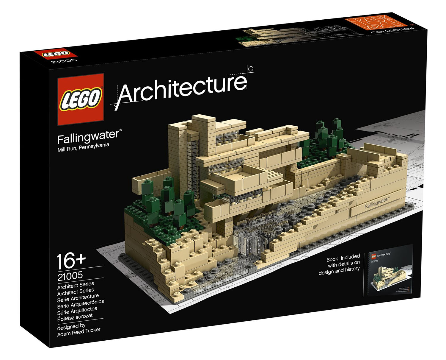 Lego architecture 21005 pas cher fallingwater for Architecture organique exemple