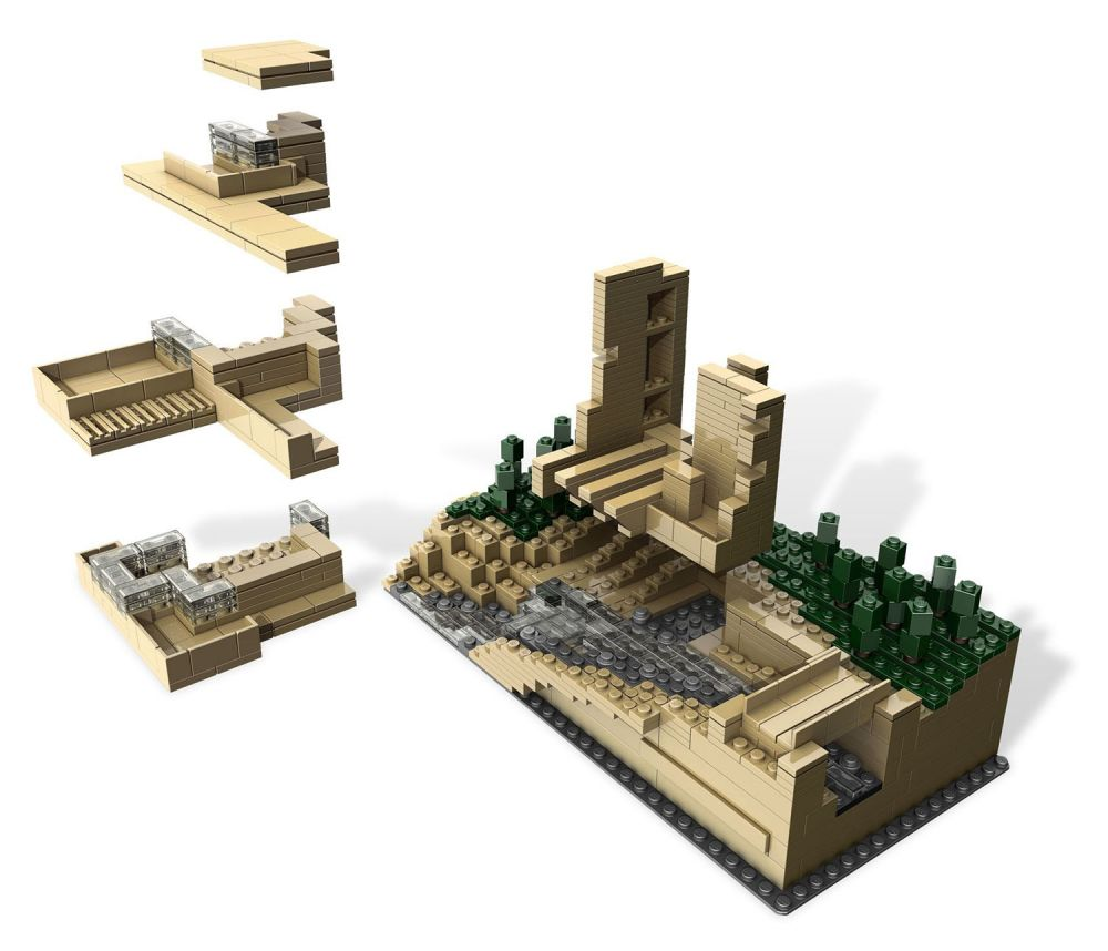 lego architecture 21005 pas cher fallingwater. Black Bedroom Furniture Sets. Home Design Ideas