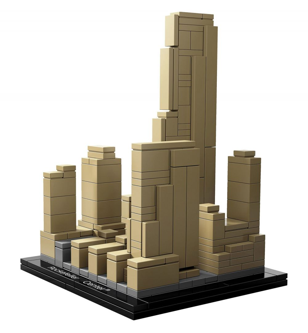 lego architecture 21007 pas cher rockefeller center. Black Bedroom Furniture Sets. Home Design Ideas