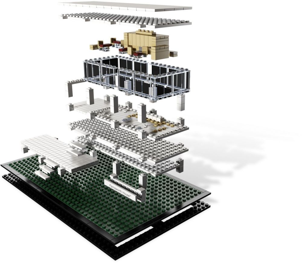 lego architecture 21009 pas cher farnsworth house. Black Bedroom Furniture Sets. Home Design Ideas