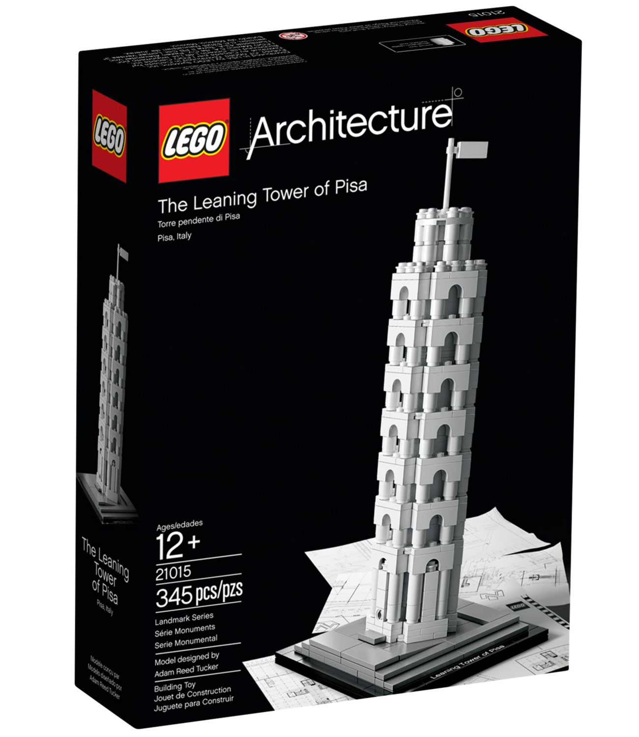 lego architecture 21015 pas cher la tour de pise pise italie. Black Bedroom Furniture Sets. Home Design Ideas