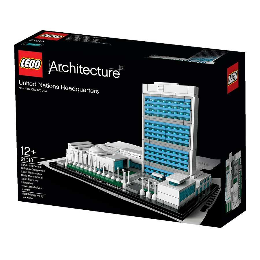lego architecture 21018 pas cher le si ge des nations unies new york etats unis. Black Bedroom Furniture Sets. Home Design Ideas