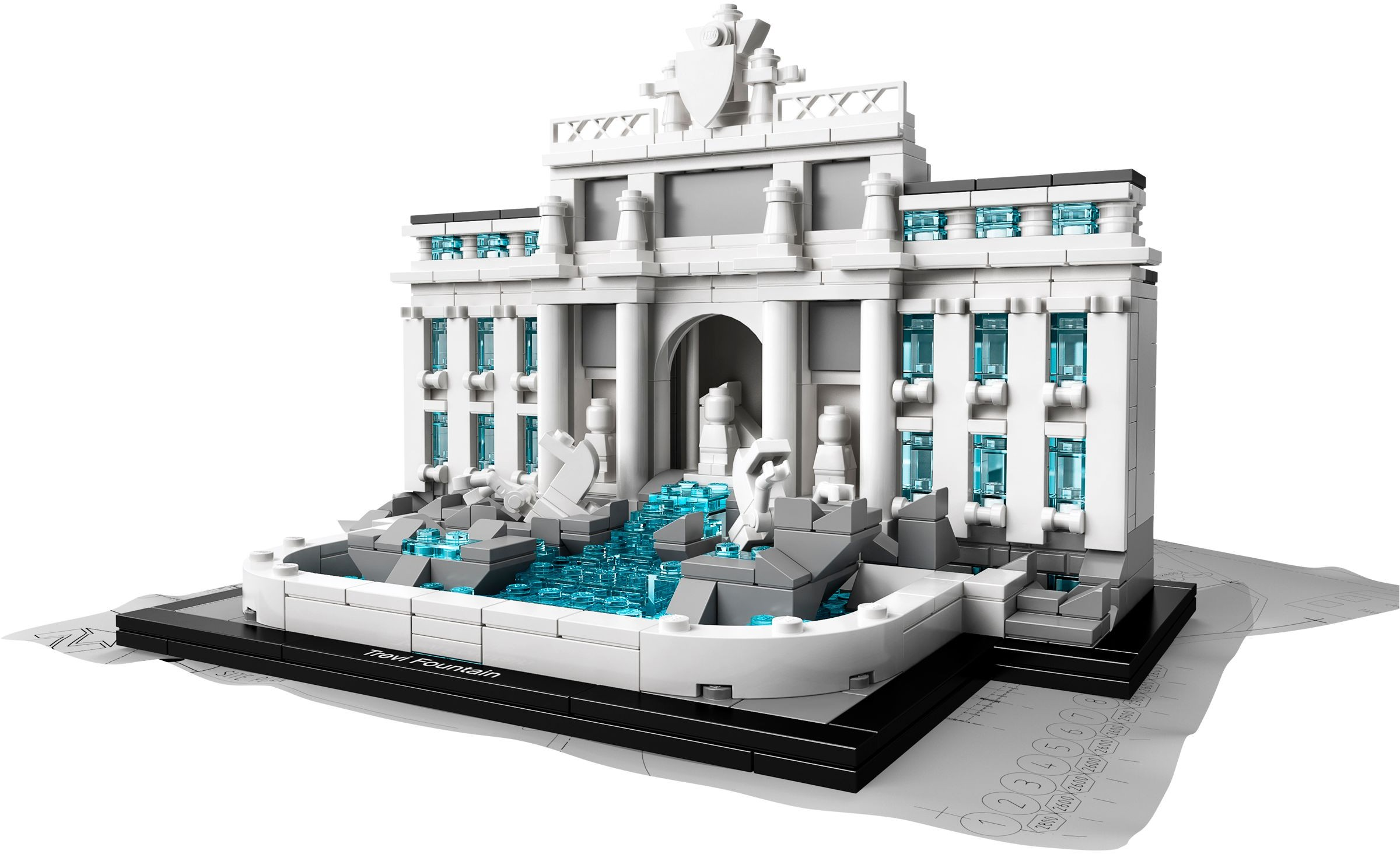 lego architecture 21020 pas cher la fontaine de trevi rome italie. Black Bedroom Furniture Sets. Home Design Ideas