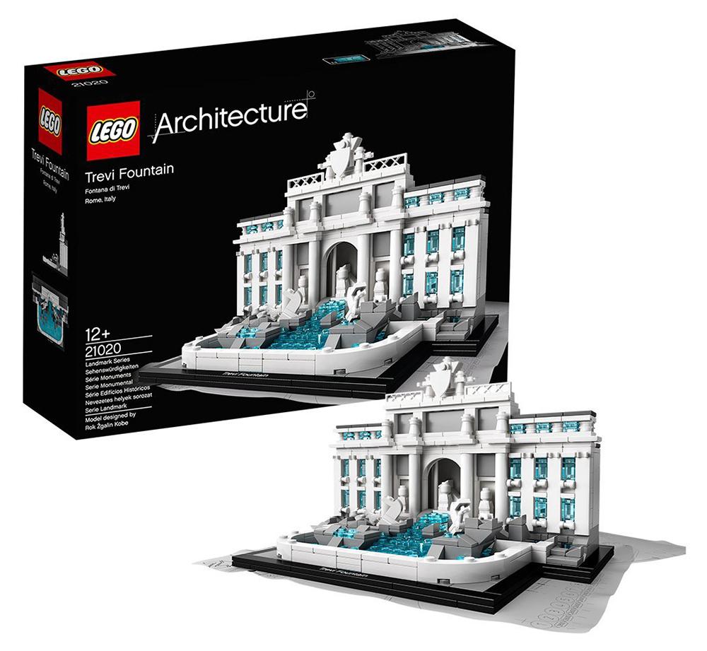 lego architecture 21020 pas cher la fontaine de trevi rome italie. Black Bedroom Furniture Sets. Home Design Ideas