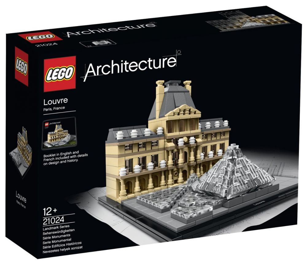 lego architecture 21024 pas cher le louvre paris france. Black Bedroom Furniture Sets. Home Design Ideas