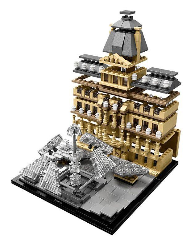lego architecture 21024 pas cher le louvre paris france. Black Bedroom Furniture Sets. Home Design Ideas