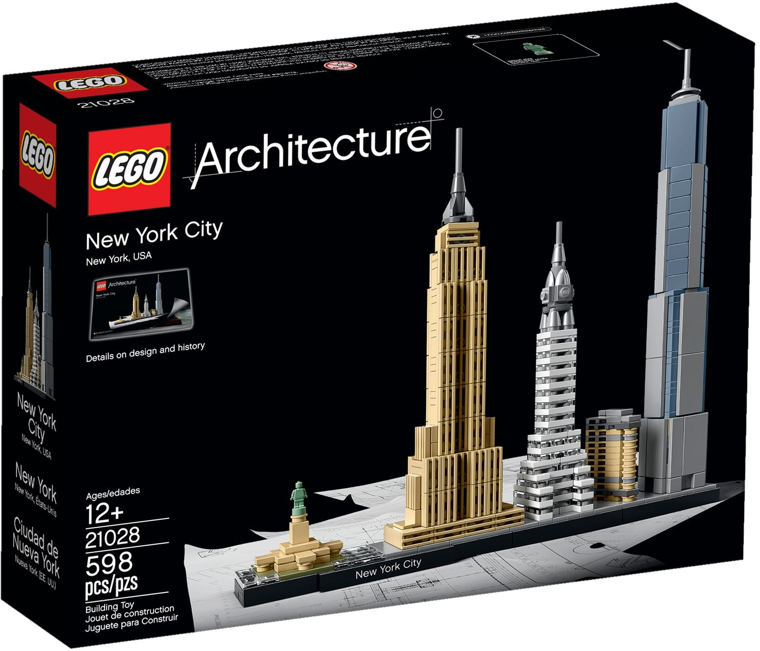 lego architecture 21028 pas cher new york. Black Bedroom Furniture Sets. Home Design Ideas