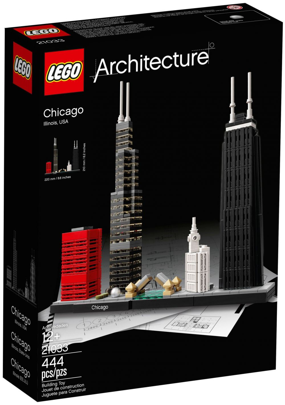 lego architecture 21033 pas cher chicago. Black Bedroom Furniture Sets. Home Design Ideas