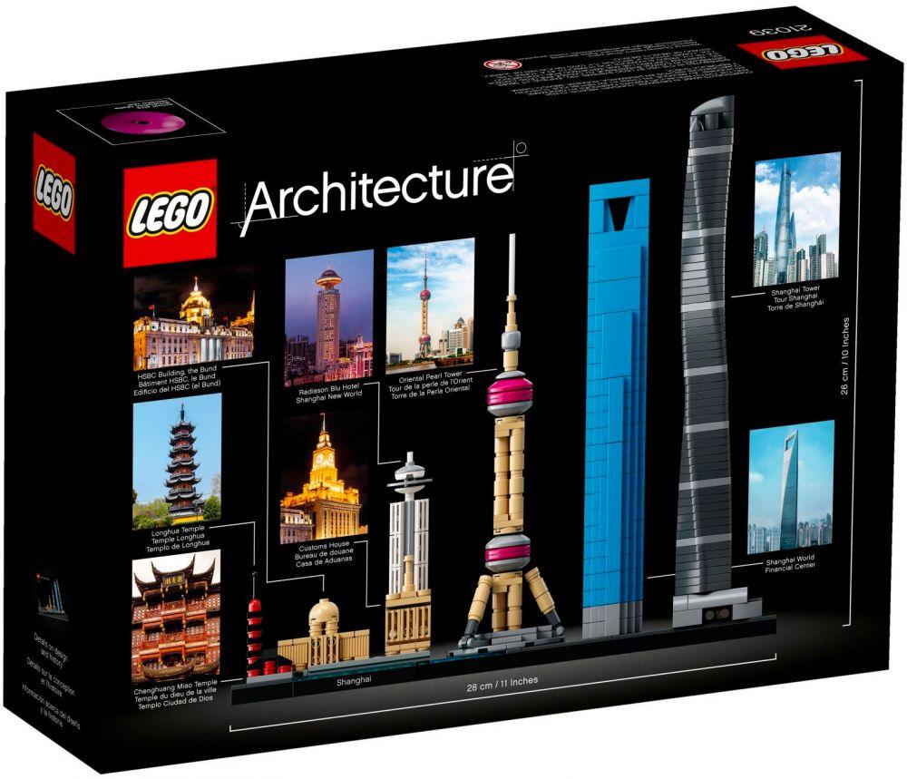 Modernes Lego Wohnzimmer 2018: LEGO Architecture 21039 Pas Cher, Shanghai (Chine