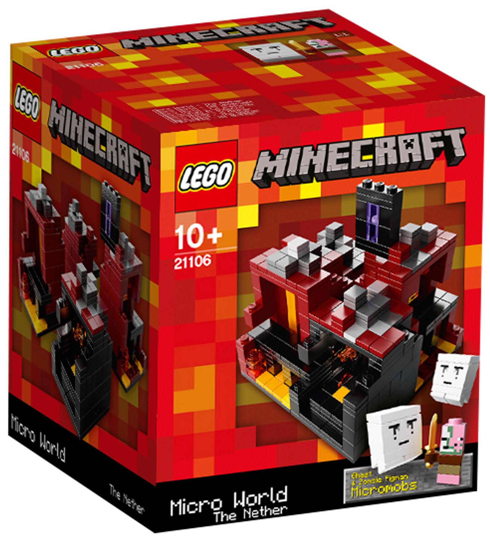 lego minecraft 21106 pas cher micro monde le nether. Black Bedroom Furniture Sets. Home Design Ideas