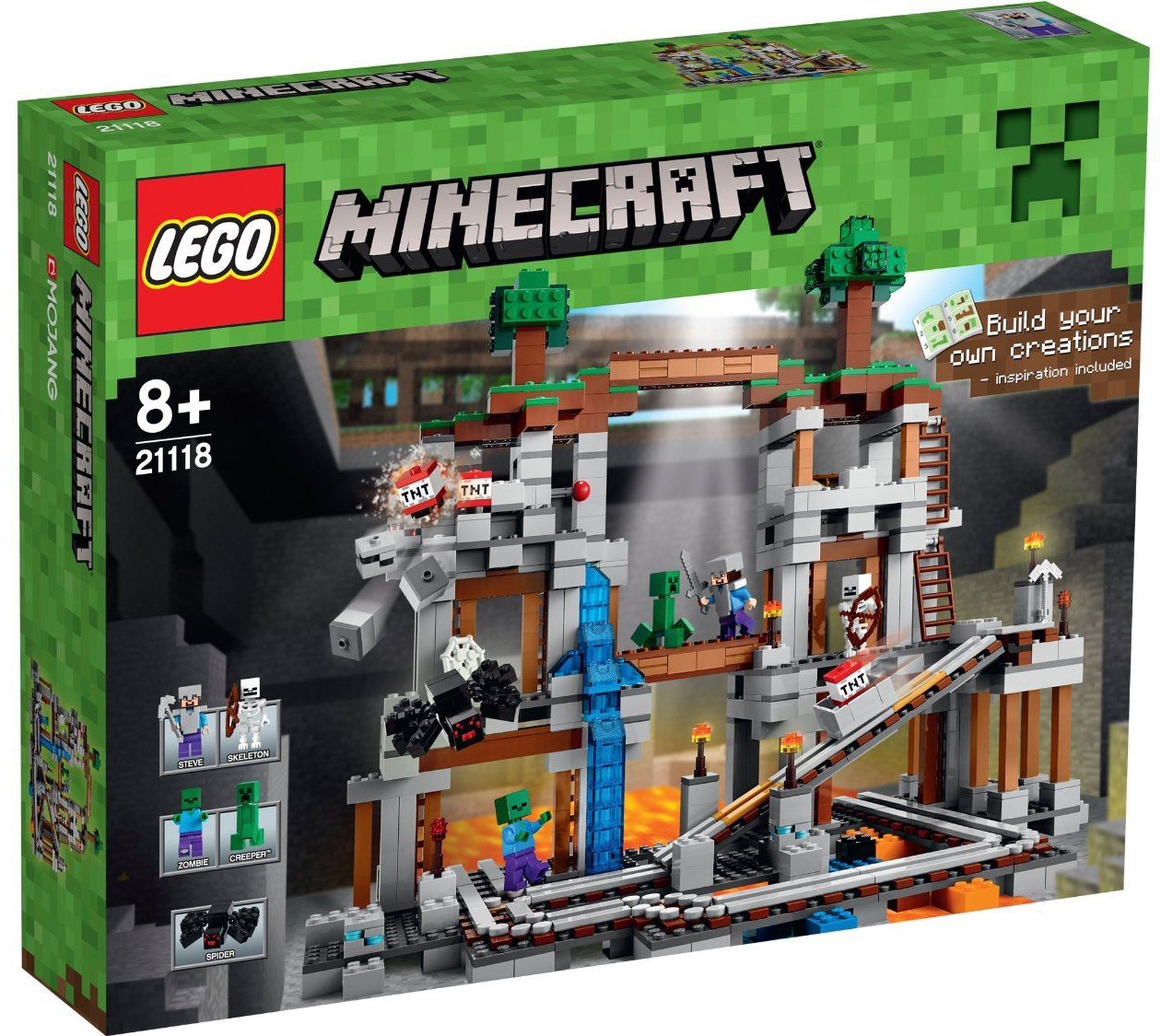 lego minecraft 21118 pas cher la mine. Black Bedroom Furniture Sets. Home Design Ideas