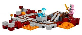 LEGO Minecraft 21130 Les rails du Nether