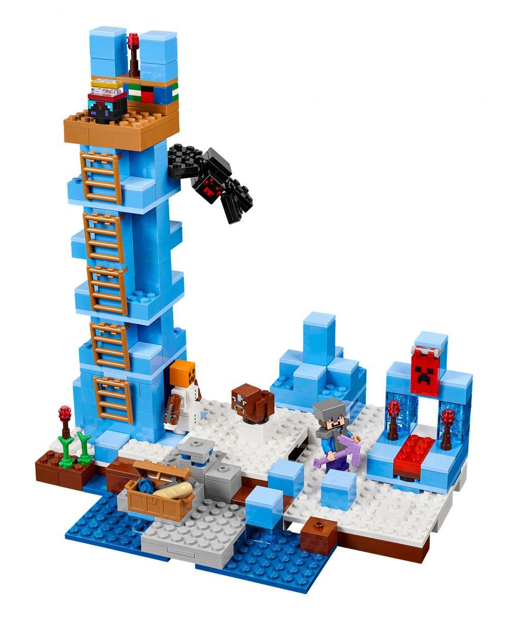 lego minecraft 21131 pas cher les pics de glace. Black Bedroom Furniture Sets. Home Design Ideas