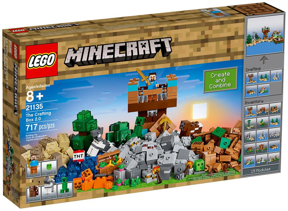 Lego minecraft 21135 pas cher la bo te de construction 2 0 for Prix de construction