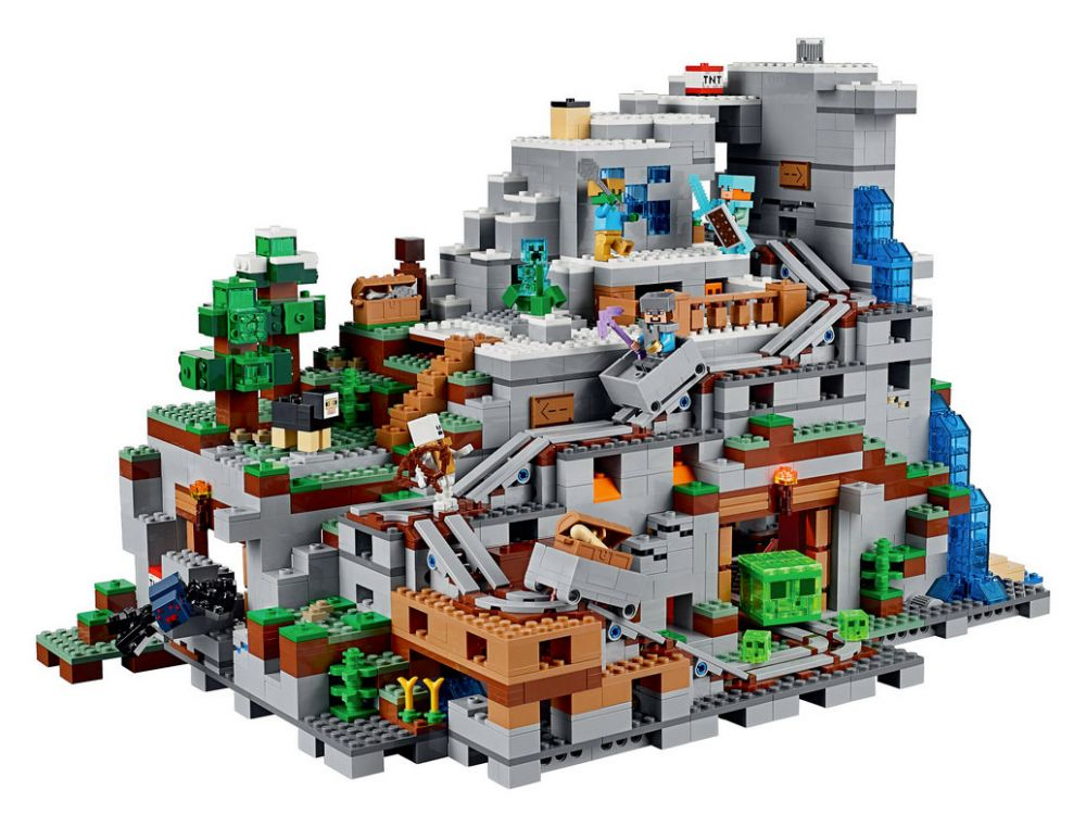 lego minecraft 21137 pas cher la mine. Black Bedroom Furniture Sets. Home Design Ideas